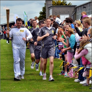 Olympic torch relay, photo by Robert Pittman